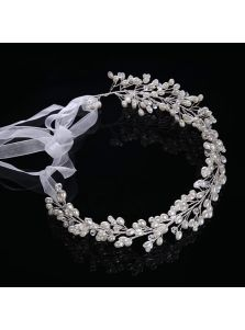 Свадебный венок - Овальный жемчуг