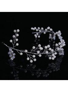 Свадебный венок - Жемчужный веер