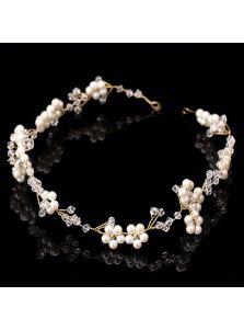 Свадебный венок - Жемчужные цветы