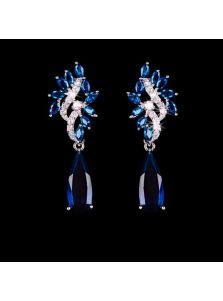 Свадебные серьги - Австрийский кристалл