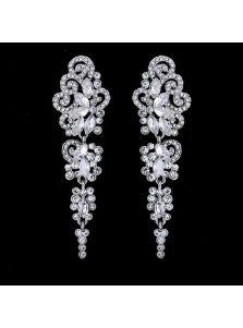 Свадебные серьги - Богатый орнамент