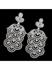 Свадебные серьги - Каллиопа