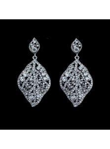 Свадебные серьги - Каменный лист