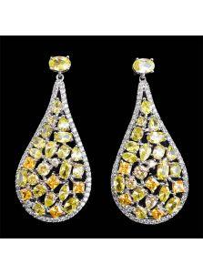 Свадебные серьги - Кристальная аллея