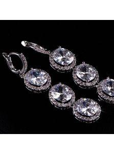 Свадебные серьги - Кристальная грона