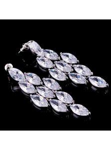 Свадебные серьги - Кристальный ромб