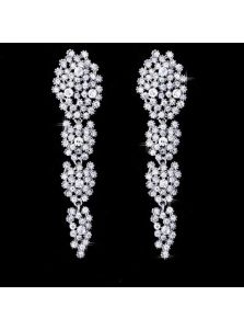 Свадебные серьги - Россыпь камней
