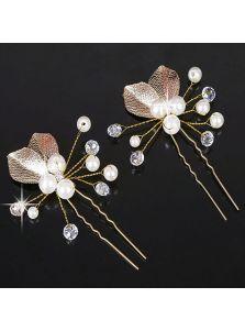 Свадебные шпильки - Металлические листья