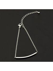 Тонкий браслет - С пластиной