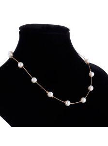 Тонкое ожерелье - С жемчугом
