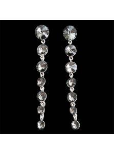 Вечерние серьги - Круглые кристаллы