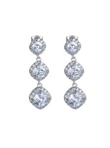 Висячие серьги - Ромбы кристаллов