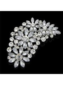 Женская брошь - Букет кристаллов