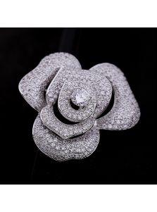 Женская брошь - Роза
