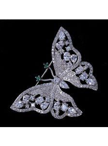 Женская брошь - Сверкающая бабочка