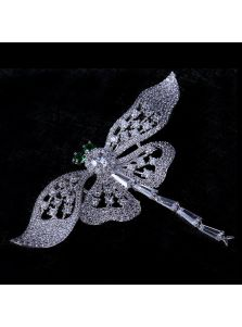 Женская брошь - Сверкающая стрекоза