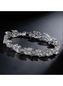 Женский браслет - Бриллиантовый лист