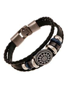 Кожаный браслет - Греческий