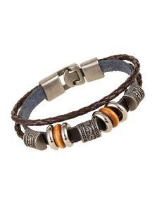 Женский кожаный браслет - Наоми