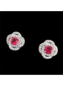 Женские серьги - Яркая роза