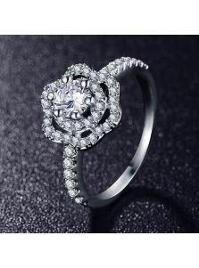 Женское кольцо - Ажурный цветок