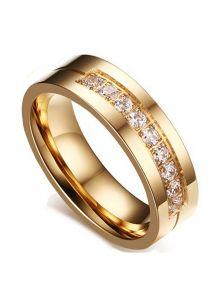 Женское кольцо - Каменная полоса