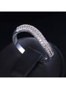 Женское кольцо - Кристальный изгиб