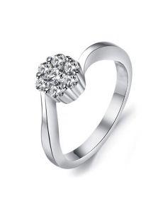 Женское кольцо - Кристальный цветок