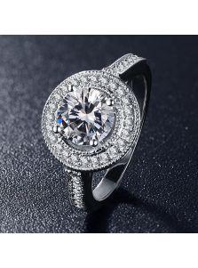 Женское кольцо - Массивный круг