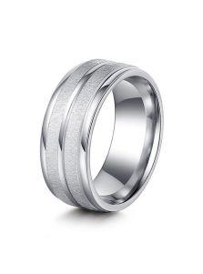 Женское кольцо - Потертая сталь