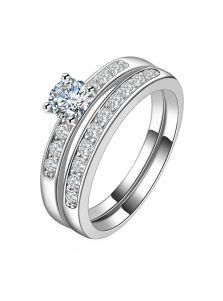 Женское кольцо - С двух колец