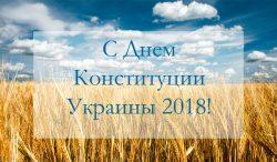 График работы DiaDemaGrand на День Конституции Украины 2018