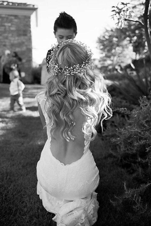 Свадебный венок из жемчуга и хрусталя