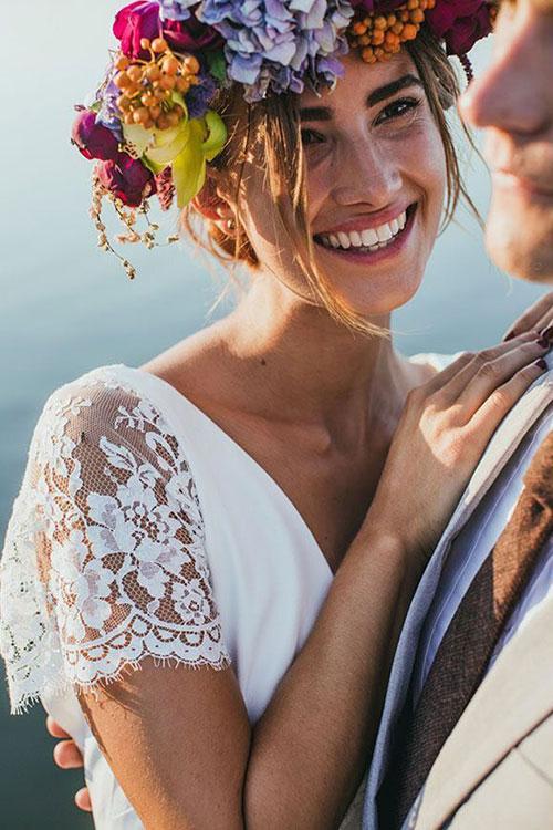 Свадебный венок осеннего дизайна