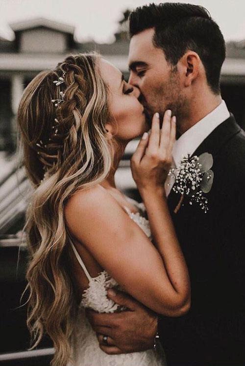 Свадебный веночек в стиле минимализм