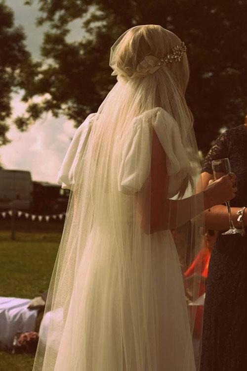 Свадебное украшение в волосы в стиле Лофт