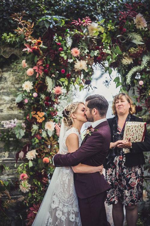 Свадебный венок под стилистику свадьбы