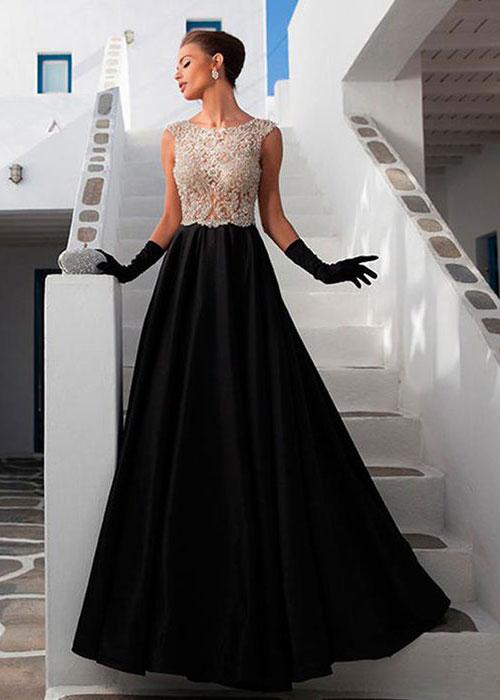 Черно-белое платье на корпоратив