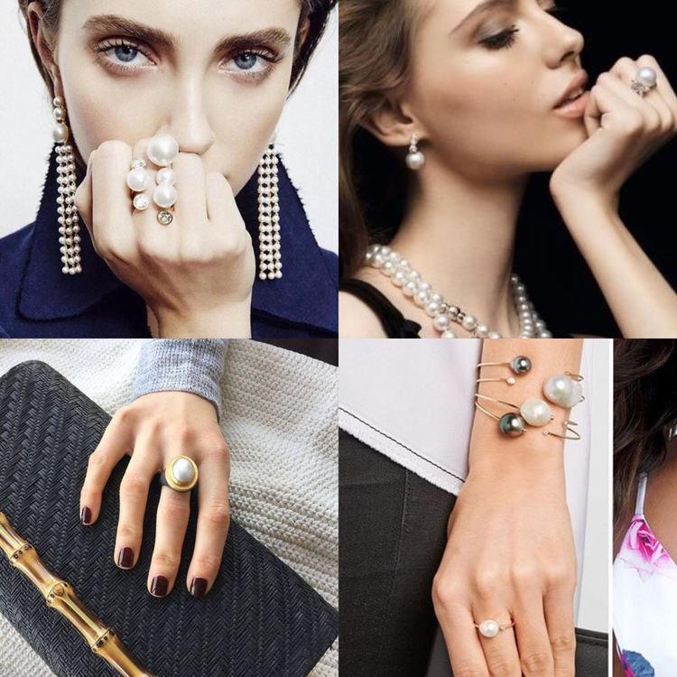 Как носить кольцо с жемчугом