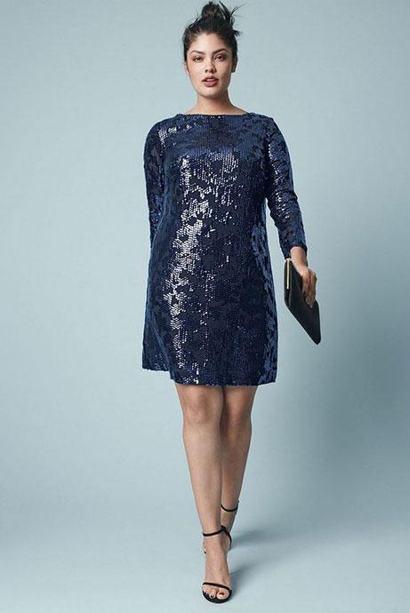 Какое платье выбрать на Новый год полным девушкам?