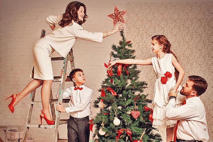 Семейный Новогодний образ