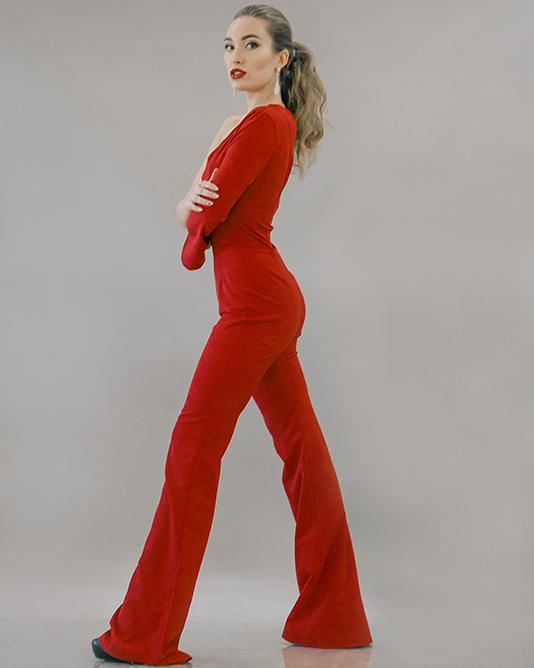 Длинные серьги под красный наряд